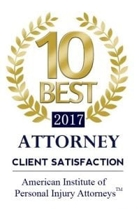 Client satisfaction award for personal injury